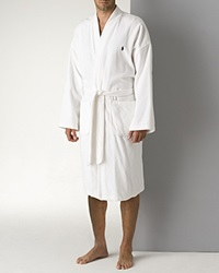 Polo Ralph Lauren Men's Kimono Cotton Velour Robe White