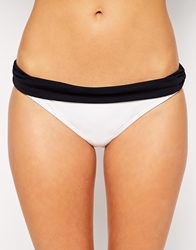 By Caprice Alexandra Triangle Bikini Bottoms Whiteblack
