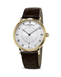 Frederique Constant Slimline Classics Automatic Yellow Gold Watch 39Mm Silver
