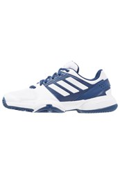 Adidas Performance Barricade Club X Multicourt Tennis Shoes Mystery Blue White Glow Orange Dark Blue