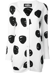 Jeremy Scott Polka Dot Cardigan White