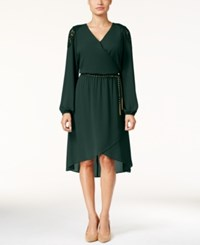Thalia Sodi Lace Trim High Low Dress Only At Macy's Dark Forest