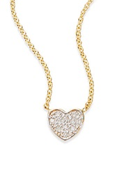 Kacey K Fine Jewelry Diamond And 14K Gold Heart Necklace Gold Silver