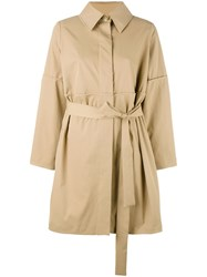 Chalayan Belted Trench Coat Brown