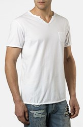 Men's Rogue Notch V Neck Pocket T Shirt White