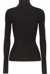 Michael Kors Collection Ribbed Knit Turtleneck Sweater Black