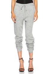 Derek Lam 10 Crosby Track Cashmere Pant In Gray