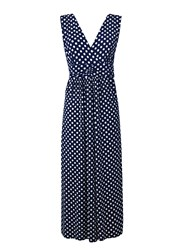 Grace Made In Britain Polka Maxi Navy