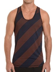 2Xist Trainer Tech Dotted Racerback Tank Black Stripe