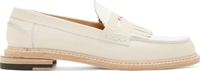 Band Of Outsiders White Fringe Penny Loafers