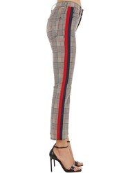 Mother Insider Ankle Cotton Check Pants Multicolor