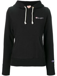 Champion Embroidered Logo Hoodie Black