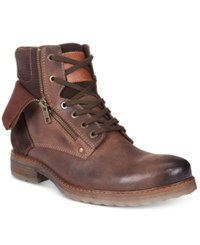 Alfani Men's Isaac Double Zip Boots Only At Macy's Men's Shoes Brown