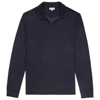Reiss Brook Open Collar T Shirt Navy