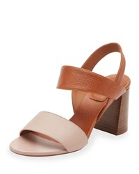 Chloe Mia Colorblock Leather 70Mm Sandal Abyss Blue