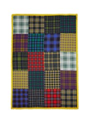 Franco Ferrari Mixed Check Print Cashmere Scarf Multi Colour
