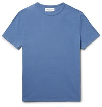 Officine Generale Cotton Jersey T Shirt Blue