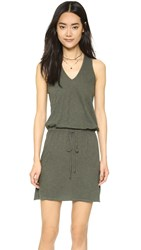 Lanston Racer Back Dress Military
