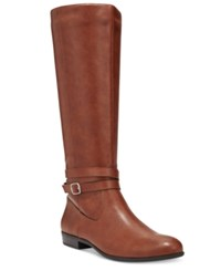Styleandco. Style Co. Fridaa Wide Calf Boots Only At Macy's Women's Shoes Barrel Brown