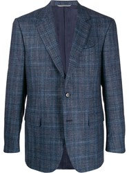 Canali Check Print Fitted Blazer 60