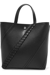 Proenza Schouler Hex Paneled Textured Leather Tote Black
