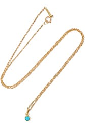 Jennifer Meyer 18 Karat Gold Turquoise Necklace Gold Turquoise