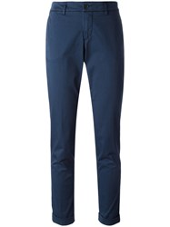 Fay Skinny Tailored Trousers Blue