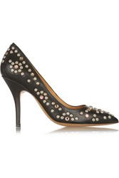 Isabel Marant Clemence Embellished Leather Pumps Brown