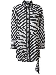 Versus Zebra Print Shirt Women Silk 42 Black
