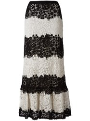 Red Valentino Lace A Line Skirt Black