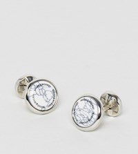Noose And Monkey Marble Face Cufflinks Gold