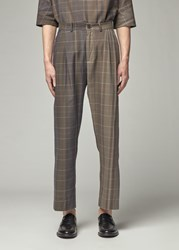 Stephan Schneider 'S Praxis Trouser Pants In Check Size Iii 100 Cotton