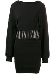 Rta Long Sleeve Fitted Dress Black