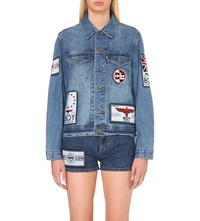 Boy London Patch Applique Denim Jacket Blue
