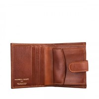 Maxwell Scott Bags Tan Leather Small Wallet For Men