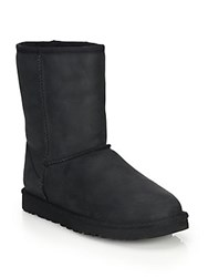 Classic Short Leather And Uggpure Boots Black