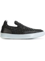 Bruno Bordese Woven Slip On Sneakers Black