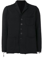 The Viridi Anne Casual Distressed Blazer Black