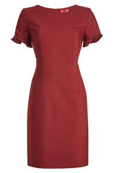 Hugo Fitted Dress Red
