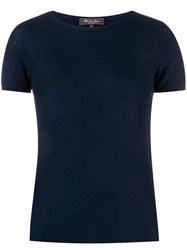 Loro Piana Textured Knitted Top Blue