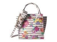 Betsey Johnson Petal To The Metal Tote White Floral Tote Handbags