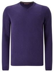John Lewis Made In Italy Cashmere V Neck Jumper Purple