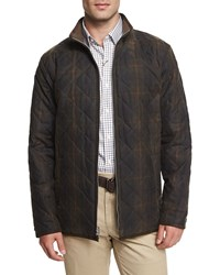 Peter Millar Chesapeake Quilted Cotton Jacket Olive Green