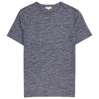 Reiss Mayers Flecked Cotton T Shirt Indigo