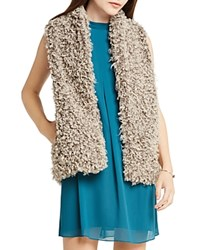 Bcbgeneration Faux Fur Vest Heather Gray Combo