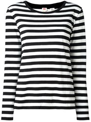 Levi's Striped Jumper Black