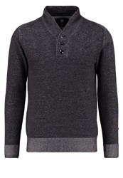 G Star Gstar Core Shawl Collar Plated Knit L S Jumper Dark Grey Heather Mottled Dark Grey