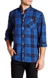 Wesc Ole Plaid Long Sleeve Relaxed Fit Shirt Blue