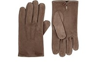 Barneys New York Men's Suede Gloves Tan
