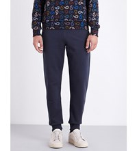 Paul Smith Ps By Logo Embroidered Cotton Jersey Jogging Bottoms Petrol
